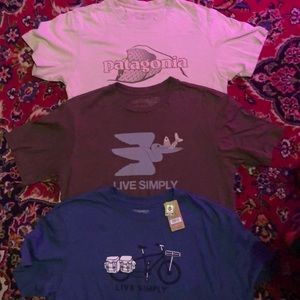 3 Patagonia Cotton Graphic T's